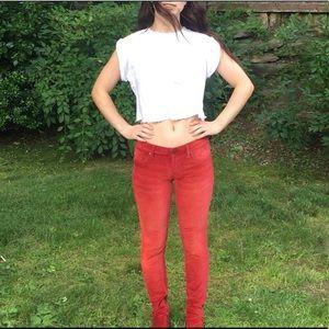 Vigoss Red Velvet Jeans